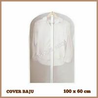 cover jas baju bahan plastik PEVA ukuran 100x60cm
