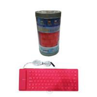 Keyboard Fleksibel USB - Flexible Keyboard USB - Merah