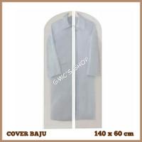 Cover gaun dress baju gamis bahan plastik PEVA ukuran 140x60cm