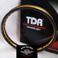Velg Rim TDR Wx Shape 2 Tone Ring 17 x 140 Hitam Emas Black Gold