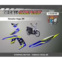 DEKAL STIKER MOTOR YAMAHA VEGA ZR STRIPING MOTIF RACING 01-03