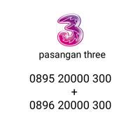 Perdana cantik / nomor cantik three pasangan