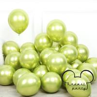 Balon Chrome Hijau Muda / Balon Metalik Chrome / Balon Latex Chrome