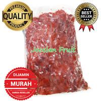 DIJAMIN TERMURAH 1kg Buah Raspberry Beku Frozen IQF Rasp Berry Merah
