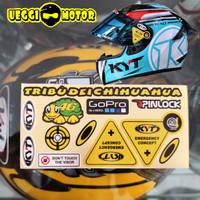 Stiker Kaca helm set kyt
