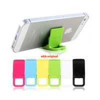 Stand Holder Handphone Portable Bahan Plastik Aneka Warna Murah Meriah