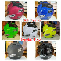 HOT PROMO HELM JP8 DOUBLE VISOR INK KW