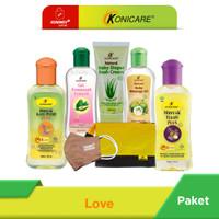 Konicare Minyak Telon Plus Paket Love + masker + pouch