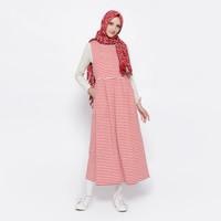 Gamis Wanita IM Syar'i Red Stripe Defect