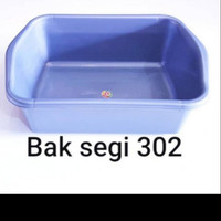 BASKOM PLASTIK / BASKOM TAHU KOTAK / BAK SEGI SILVER KOMET STAR 302