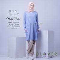 BAJU ATASAN Blouse Kaos Wanita Muslimah Lengan Panjang Melly Clover