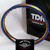 Velg Rim TDR Wx Shape 2 Tone Ring 17 x 140 Blue Gold Biru Emas