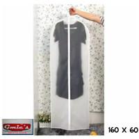 Cover gaun Dress panjang Baju gamis bahan plastik PEVA ukuran 160x60cm