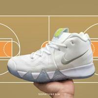Sepatu Sneakers Basket Nike Kyrie 4.0 Size 44 45 46 White Silver