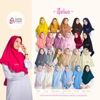 Hijab Instan Syari Kerudung Jilbab Bahan Kaos Salwa Azkia Hijab - S