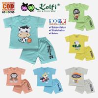 Setelan Baju Celana Bayi Anak KELFI Cowok Cewek 6 Bulan 1 - 2 Tahun