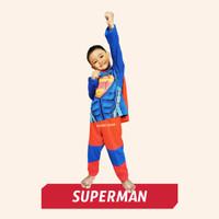 Baju Anak Setelan Kostum Superhero Superman