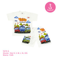 Baju Setelan Anak Laki-Laki Tayo Model A Shirton