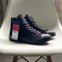 Sepatu Sekolah Ventela Ethnic High All Black Original 100%