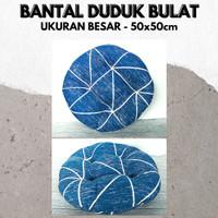 Blue Line , Bantal Duduk Bulat Kualitas Premium Uk 50cm Big Size