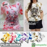[Pilih Warna] Baju Barong Bali Putih Pria Wanita L & XL Motif Mega B2M