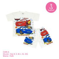 Baju Setelan Anak Laki-Laki Cars McQueen Model A Shirton - CARS A, Size O