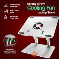 Laptop Notebook Cooling Fan Aluminium Stand Standing Holder Kuat Kokoh