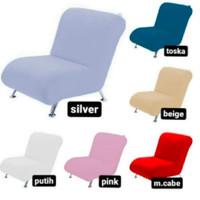 sarung sofa 1 dudukan tanpa tangan + free 1 sarung bantal ukuran 45x45