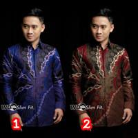 Kemeja Batik Slimfit Pria Murah Lengan Panjang / Baju Batik Pria