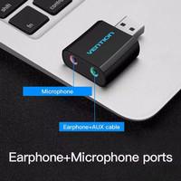 VENTION USB SOUNDCARD EXTERNAL AUDIO USB FOR PC LAPTOP AUDIO SOUNDCARD