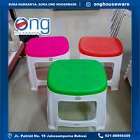 Bangku Kursi Jongkok Medium Pendek Plastik SL Tatami BSH819