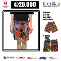 Celana Karet Pendek Wanita Kain Batik Motif Warna Random ALL SIZE - Diatas lutut