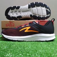 Sepatu Running/Sepatu Lari Specs Cloudwave - Maroon/Orange