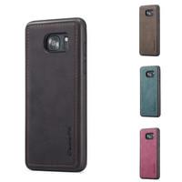 Caseme Original Leather Back Cover Case Samsung Galaxy S7 edge S7Edge - Merah