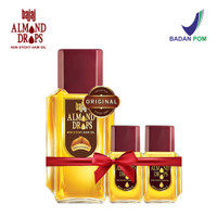 Bajaj Minyak Almond Hair Oil Drops (3 Pcs Set 200ml, 20ml & 20 ml)