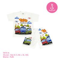 Baju Setelan Anak Laki-Laki Tayo Model A Shirton - TAYO A, Size O