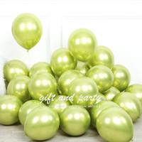 Balon Latex Chrome Hijau Muda / Balon Metalik Chrome / Ballon Chrome