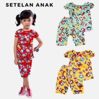 Setelan Anak Perempuan LOL Baju Celana Cewek Set Kartun 1 2 3 Tahun