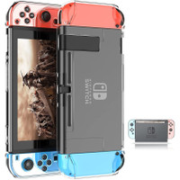 Dockable Clear Case for Nintendo Switch Protective Hard Carrying Cover