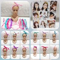 Bando Bandana Kawat Motif Model Telinga Kelinci Ala Korea Style