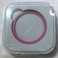 For Samsung Gear S2 Bezel Stainless Steel Bumper Ring Watch Case Cover - Merah Muda