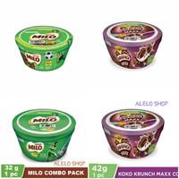 Nestle Milo cereal combo pack 32 g cup bowl sereal susu dancow coklat