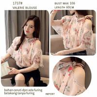 Baju Atasan Wanita Terbaru IMPORT Blouse Wanita Hits Valerie 1737 M-XL