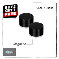 Anting Magnet / Anting Magnet Hitam / Anting Pria Magnet Size 6mm