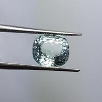 Batu mulia permata natural aquamarine beryl rectangle cushion