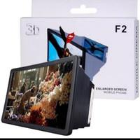 F2 kaca pembesar kayar HP F2 enlarge screen proyektor LCD handphone