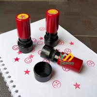 Stempel Bulat Mini 1,5cm untuk reward, paraf, poin, dll bebas custom
