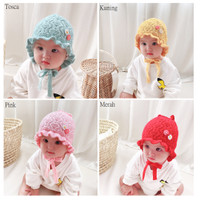 Topi Anak / Topi Kupluk Anak / Topi Bayi Motif Lucu Dan Imut - Kuning