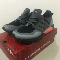 Sepatu Adidas Ultraboost Terain Black Shock Red Man Premium Original
