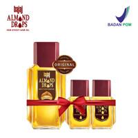 Bajaj Minyak Almond Hair Oil Drops (3 Pcs Set 100ml, 20ml & 20 ml)
